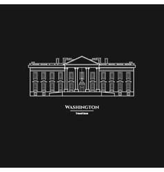 Washington United States White House Icon 1 vector image