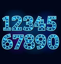 Light font alphabet text bright vector