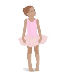 little ballerina in a pink tutu vector image