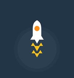 Rocket spacecraft Retro-style emblem icon vector image