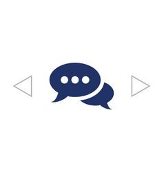 speech bubbles dialog icon vector image
