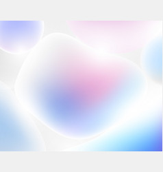 abstract 3d liquid colorful freeform shapes vector image