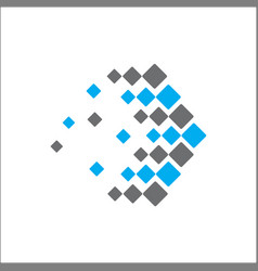 abstract logo technology arrow vector image