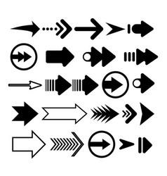 Arrow icon set flat arrows collection vector