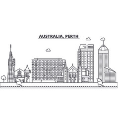 Australia perth architecture line skyline vector