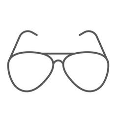 aviator sunglasses thin line icon travel tourism vector image