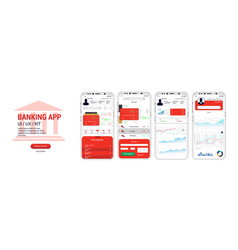 banking app ui ux kit mockups screens vector image