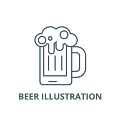 beer line icon beer vector image