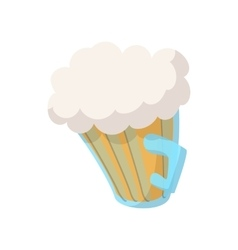 Beer mug cartoon icon vector image