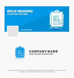 blue business logo template for algorithm process vector image