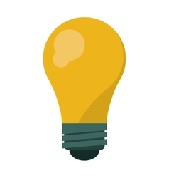 bulb idea innovation creative shadow vector image