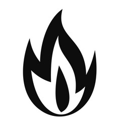 burning fire icon simple style vector image