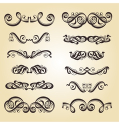 Calligraphy ornament set 2 vector