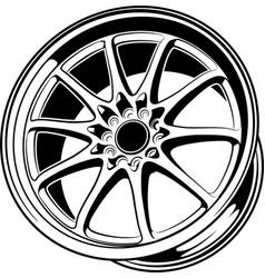 car wheel 7 vector image