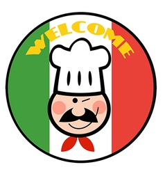 Cartoon chef logo vector