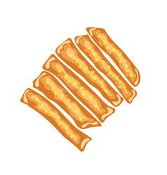 Cheese bread sticks vector