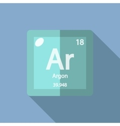 Chemical element Argon Flat vector image