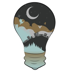 City in a Lightbulb2 vector image