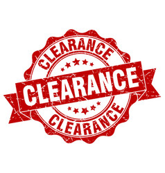 clearance stamp sign seal vector image