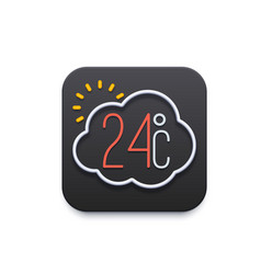 climate and weather icon forecast mobile app vector image