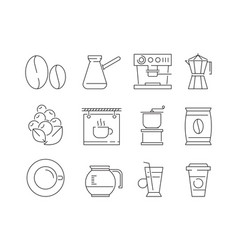 coffee time icon tea and hot drinks mugs editing vector image