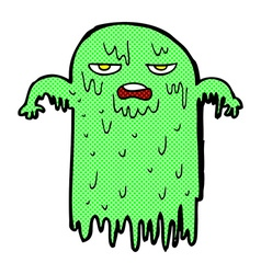 comic cartoon slimy ghost vector image