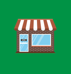 commerce shop store icon vector image