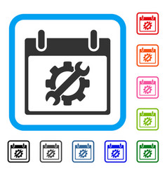 Configuration tools calendar day framed icon vector