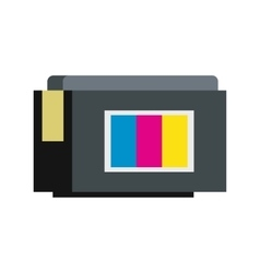 Continuous ink supply system icon flat style vector