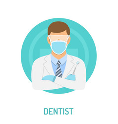 doctor dentist concept vector image