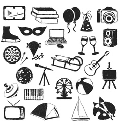 Doodle entertainment images vector