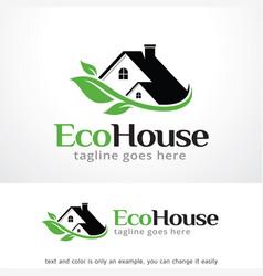 Eco house logo template vector