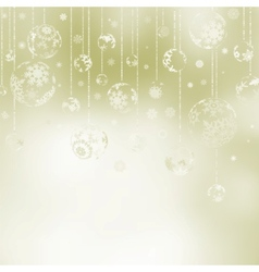 Elegant christmas baubles vector