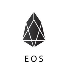 Eos crypto currency chrystal coin icon vector