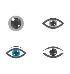 eye logo icon vector image