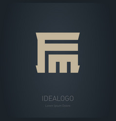 fm - logotype design element or icon logo vector image