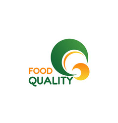 food quality letter q icon vector image