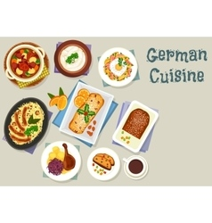 German cuisine Christmas dishes for dinner icon vector image