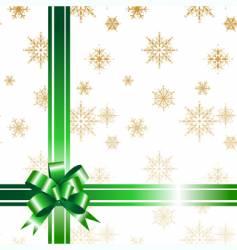 gift bow ribbon vector image