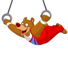 gymnast bear vector image
