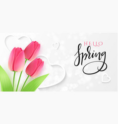 hello spring greetings vector image