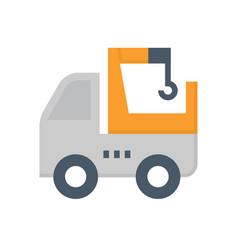 hiab truck icon vector image