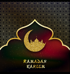 Holiday shiny ramadan kareem label lettering vector