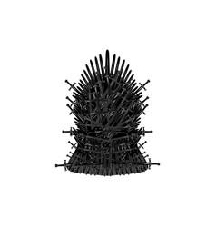 Iron throne icon isolated vector