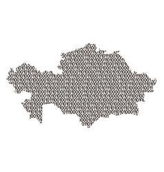 Kazakhstan map abstract schematic from black ones vector