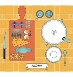 kitchen still life set vector image