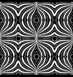 lace elegance black and white abstract seamless vector image