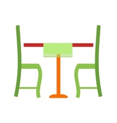 Lunch table vector