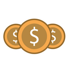money coins currency cash dollar icon vector image
