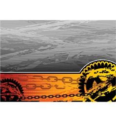 orange and grey industrial background vector image